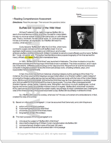 Worksheets Read Theory Llc grade 8 page 1 read theory workbooks buffalo bill inventor of the wild west 8g 1120l