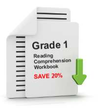 Grade 1 Reading Comprehension Workbook - All 25 lessons