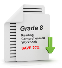 Grade 8 Reading Comprehension Workbook - All 25 lessons