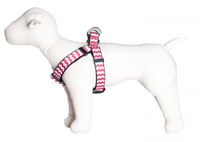 Chevron Dog Harness-Red