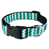 Chevron Green/Black Collar