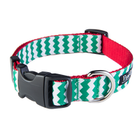 Chevron Green/Red Collar