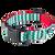 Chevron Green/Red Collar