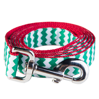 Chevron Green/Red Leash