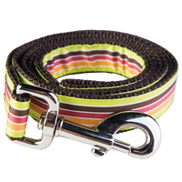 Margarita Mix Dog Leash-Mellow Yellow Stripe