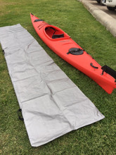 Silver polyweave showing comparison to a kayak