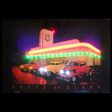 ROUTE 66 DINER NEON/LED PICTURE