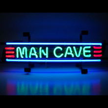 MAN CAVE RED GREEN & BLUE NEON SIGN