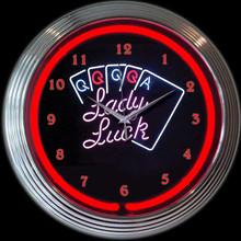 LADY LUCK NEON CLOCK