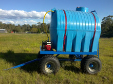 Compost windrow water wagon side