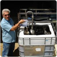 Paul taylor with 1000L BioVital compost tea brewer