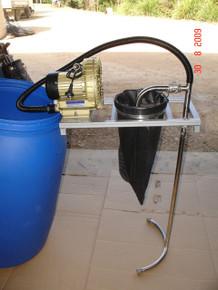 BioVital 200 Compost tea brewer next to drum