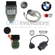 BMW K + D-CAN OBD2 INPA Cable ( FTDI FT232RQ Chipset ) + Jumper Switch + 20 Pin OBD1 Adapter (Cable Only)