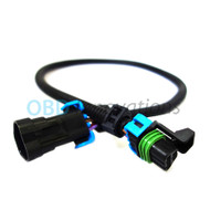 Front Oxygen O2 Sensor Extension Cable for 2005-2013 GM Corvette C6 LS2 LS3 LS7 Z06 12""