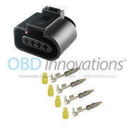 4 Pin Pressure Sensor Female Harness Connector Kit for VW Volkswagen Audi 1J0973704