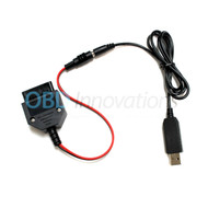 USB 5V to OBD2 12V 1A Output Female Power Adapter Converter