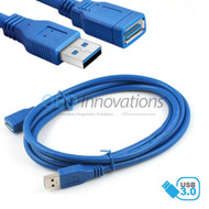 USB 3.0 SuperSpeed Male to Female Type A Extension Cable with Molded Strain Relief - 5 FT