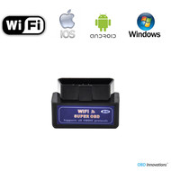 Super Mini ELM327 WiFi OBD2 Car Diagnostics Scanner - Black
