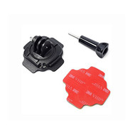360 Degree Rotating Helmet Mount + 3M Adhesive + Thumb Screw for GoPro Hero 1 2 3 3+ 4 5