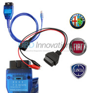 VAG KKL USB Interface + 4 Position Switch FTDI FT232RL + 3 Pin Adapter Cable for Fiat Alfa Romeo Lancia