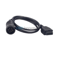 9 Pin Deutsch J1939 Male to 16 Pin OBD2 Female Adapter Cable for Heavy Duty Diesel Trucks - 3FT