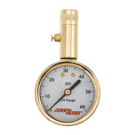 Accu-Gage 60 PSI Dial Tire Pressure Gauge with Check Valve and Bleeder