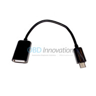 Slim Micro USB Male to USB Female OTG ( On the Go ) Adapter Cable