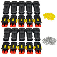 10X Set 2 Pin Male + Female AMP Superseal 1.5 Series Electrical Connector Kit Set