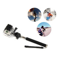 Monopod Pole Selfie Stick + GoPro Hero 1 2 3 3+ 4 5 Adapter Mount - Black