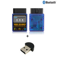 OBD Innovations® Bluetooth OBDII Scan Tool Scanner + Bluetooth CSR V4.0 USB Receiver - Blue