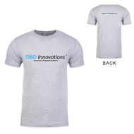 OBD Innovations® Men's Logo and Slogan Crew Neck T-Shirt - Sport Gray