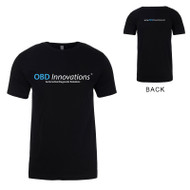 OBD Innovations® Men's Logo and Slogan Crew Neck T-Shirt - Black