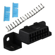 16 Pin J1962 OBD2 DLC Female Connector Plug Kit with Wire Terminals