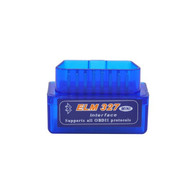 Super Mini ELM327 Bluetooth OBD2 Diagnostic Scanner V2.1 - Blue