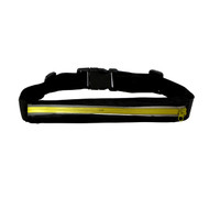 Reflective Fitness Sport Running Waist Belt Pouch Bag Fanny Pack - Yellow