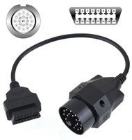 20 Pin OBD to 16 Pin OBD2 Diagnostic Adapter Cable for BMW