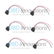 6X PACK Ignition Coil Pack Connector Pigtail for Toyota Supra 1JZ 2JZ SuperSpark SSCP-1JZ