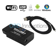ELM327 WiFi + USB Cable OBD2 Car Diagnostic Scanner ( FTDI FT232R Chip )