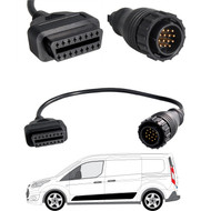 14 Pin to 16 Pin OBD2 Diagnostic Adapter Cable for Volkswagen LT Typ 2D Van