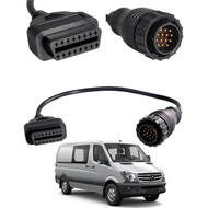 14 Pin to 16 Pin OBD2 Diagnostic Adapter Cable for Mercedes Benz Sprinter Van