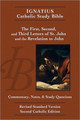 "The Letters of St. John and Revelation Ignatius Catholic Study Bible Series  by Scott Hahn and Curtis Mitch This volume in the popular series of the Ignatius Catholic Study Bible covers the three letters of St. John and the Book of Revelation (or Apocalypse). The three Johannine letters are explored first, with ample notes and reflections representing the best of contemporary and traditional scholarship and commentary. The largest portion of this volume is devoted to the Revelation to John, also called the Book of Revelation and the Apocalypse (from the Greek, meaning ""unveiling"").  Written in highly symbolic style, the Revelation to John is perhaps the most difficult book of the Bible to understand. Scholars have long debated whether the book is concerned mainly with a symbolic depiction of the struggle of good against evil or whether it applies to specific events in history—its own time, the general course of Church history, or the end of the world.  The annotations and commentary on this volume draw on the best elements from each approach, while emphasizing the biblical author's immediate intention: to recount the heavenly vision he received as it applied to his own time. Modern scholarship, as well as insights from the Church Fathers and other classic commentators, help the reader make sense of what many people regard as a confusing book.  The Ignatius Catholic Study Bible includes Topical Essays, Word Studies and Charts. Each page features an easy-to-use Cross-Reference Section. Study Questions are provided for each biblical book, which can be used for personal or group study of the Word of God. Each biblical book includes an introductory essay covering questions of authorship, date, destination, structure and themes. Also included are outlines of each book."