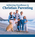 "Achieving Excellence in Christian Parenting by Steve Wood This popular CD album covers the whole spectrum of parenting, from early childhood to young adulthood. Drawing from over 30 years experience as a youth minister, marriage counselor, and family life expert, Steve shares practical ""how to"" advice with parents.   You will learn:    Key components for building a Christian home  Something that's even more important than spending time with your children The best way to prevent teen problems  The missing spiritual foundation for enduring faith in children and teens  An effective way to overcome negative peer socialization  How to teach the Faith in a way that ensures your sons won't outgrow it  The two critical questions teens need an answer to in order to have Godly direction in their lives  Why determining right and wrong by feelings leads teens into trouble  This 2-CD album in the recording of a live teaching seminar presented to Catholic parents.  Customer Review:  I just bought Excellence in Christian Parenting and loved it. Thank you for speaking the word of truth and leading us. May God bless you abundantly!"" -- Catherine"