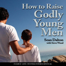 "How to Raise Godly Young Men by Sean Dalton and Steve Wood Never before in world history has it been so difficult for parents to guide their children through childhood and the teen years. Hear sterling advice on how to form teens and young adults into strong men of virtue from veteran youth ministers and fathers of sons, Sean Dalton and Steve Wood.  Topics include:  The ""mama's boy"" syndrome, and how to avoid it How to best prevent homosexuality in your sons How to keep your children within the Catholic fold Secrets for how to draw young men to the Faith like magnets What to do if their isn't a father in the home How to ensure that your son doesn't become a barbarian or a wimp Activities that will attract boys to godly manhood"