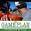 """The Game Plan Discovering God's Plan & Purpose for Your Life  Live Seminar by Steve Wood   Football players do not head for the playing field until their coach has given them the game plan: a playbook of wise tactics and winning strategies to help them accomplish their goal of victory. Just like a football game, young people need a game plan for determining their vocation and mission in life. In this live seminar, Steve Wood equips today's young adults with the tools and information they need to answer life's biggest questions:    Where do I come from? Where am I going?  What am I called to do in this life?  Steve explains to young people how the answers to these three questions will shape their decisions on other important life questions, such as: Where should I go to college? What should I choose for a college major? What careers am I best suited for? Whom should I marry? and many others. This seminar is a """"must listen"""" for every Catholic seeking God's will and direction for their lives."""