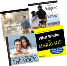The Ultimate Marriage Pack Steve Wood  In our brand-new combo, The Ultimate Marriage CD Pack, we've combined four stellar marriage CD albums that are guaranteed to strengthen, encourage, motivate, and fortify all Christian marriages.  The CD Strengthen Your Marriage is a live seminar/retreat given to married couples by Steve Wood. You'll learn effective strategies for keeping your marriage strong even during difficult times. The best-selling CD Building Your Marriage on The Rock is a beautiful 2-disc seminar that teaches couples the intimate relationship between their marital bond and the union of Christ and His Church. In the new CD What Works in Marriage, Steve shares some uncomplicated yet incredibly effective marriage information. He reveals a simple secret that can make troubled marriages better and good marriages great. Finally, the live seminar Raising the Standard in Your Marriage is exclusively for husbands. It's the live recording of a men-only talk about strengthening their marriage covenant with their wives.  This is a Marriage Combo you don't want to miss!