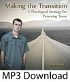 """Making the Transition: A Theological Strategy for Parenting Teens*  * Also available in CD   by Steve Wood  Most conscientious parents excel at parenting during the childhood years. This success prompts most parents to keep up the same strategy, or even intensify it, during the pre-teen and teen years. Profound and predictable negative consequences will likely follow the neglect to shift parenting strategies during these transition years.   Steve Wood explains why parents should follow God's """"parenting"""" pattern with Israel in the history of redemption. This pattern involves a pronounced shift in parenting strategies as a child matures.   This talk explains how parents can successfully shift parenting strategies and help their children fully embrace the Faith as young Catholic adults.   """"I truly wish every Catholic parent would listen to this message at least three times. It's that important in order to prevent mountains of headaches and heartaches in the teen years. This message, which was thirty years in the making, focuses on how to form a heart in your child to obey God throughout the teen years and after they leave the nest.   This message may be particularly helpful to conservative Catholic parents and homeshooling parents who often falsely assume that their children will be immune from the struggles of adolescence. """"    Steve Wood Customer Testimony:  """"Your website is very nice. I ordered Making the Big Transition: A Theological Strategy for Parenting Teens as an instant MP3 download (great option by-the-way) because as a mother of five I need to make good use of my time. My husband just listened to it and it gave us a lot to think and pray about. Thank you.""""  --  Patty"""