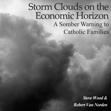Storm Clouds on the Economic Horizon - A Somber Warning to Catholic Families   Steve Wood & Robert Van Norden   According to a 2012 survey reported in USA Today, the catastrophic event that worries Americans the most is an economic collapse. With a 40% drop in the average American's family's net worth over the past five years, these forebodings seem well-founded.   If and when the current financial debt bubble pops the consequences could be so severe as to shake the foundations of society as we know it. Updated for the situation in 2012, this CD is probably the hardest-hitting Catholic message on the impending debt disaster made to date.  On it you will learn:   Why the financial crisis of the past five years may be just a warm-up for the disaster ahead Are we going to be facing inflation, deflation, or perhaps both? What financial institutions and instruments are safe? What can the average family do? Are religious annuities safe for retirees?