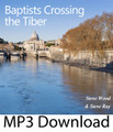"Baptists Crossing the Tiber  by Steve Wood and guest Steve Ray         Available in CD  The Tiber is a river in Italy that passes by Rome. Crossing the Tiber is a phrase used to describe a Protestant's conversion to Roman Catholicism.   Matthew, a son of a Baptist minister, contacted Faith & Family Radio asking to learn more about Catholicism. In response, we asked Steve Ray to share the story of his fascinating journey to Catholicism in terms a Baptist could easily understand.   Steve Ray shares how he unconsciously looked at his Bible through ""Baptist lenses"" that colored his interpretation of the Bible.  At the time, Steve thought that only Catholics had tradition not realizing he has unknowingly adopted ""Baptist tradition"" from the time he first started reading the Bible.   Steve Ray explains how Catholic sacred tradition comes from the apostles themselves. He also relates how a unified tradition leads to a unified church instead of the 30,000 divisions within Protestantism.   This MP3 file is a perfect resource to share with a Baptist friend while Catholics listening to it will learn more about their own faith."
