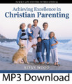 """Achieving Excellence in Christian Parenting by Steve Wood This popular CD album covers the whole spectrum of parenting, from early childhood to young adulthood. Drawing from over 30 years experience as a youth minister, marriage counselor, and family life expert, Steve shares practical """"how to"""" advice with parents.   You will learn:    Key components for building a Christian home  Something that's even more important than spending time with your children The best way to prevent teen problems  The missing spiritual foundation for enduring faith in children and teens  An effective way to overcome negative peer socialization  How to teach the Faith in a way that ensures your sons won't outgrow it  The two critical questions teens need an answer to in order to have Godly direction in their lives  Why determining right and wrong by feelings leads teens into trouble  This 2-CD album in the recording of a live teaching seminar presented to Catholic parents."""