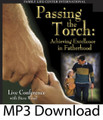 "Passing the Torch Achieving Excellence in Fatherhood  by Steve Wood   There is nothing quite like the electric atmosphere at a live men's conference. This CD album captures the dynamism of a live conference where dads are coached in fatherhood strategies. Just like in a football game these fathering strategies are divided into four quarters:   Quarter 1: Keys to fathering the early years; When and how to discipline.    Quarter 2: How to raise your sons to be real men; keys to successful fathering of daughters.    Quarter 3: The most effective way to motivate teens; How to keeps teens out of trouble; creative alternatives to the dating game.    Quarter 4: Preparing your children for marriage    Good teams often lose because of turnovers. Likewise in fatherhood, a few critical mistakes can torpedo success at home. Throughout the four quarters of this live seminar, men are taught how to avoid the big mistakes that dads often make. This CD album is a perfect drive-time gift. It will bring a vibrant fatherhood conference right into any man's truck or car. Testimonial:  ""Thank you and all the staff for a great evening last night at the ""Passing the Torch"" conference.  It is nice to hear someone speak of the dignity and honor of being a father and the loving work needed to raise children these days. Even though my pen was set to turbo and I wrote down many good verses to continue guiding me, it was a great relief to hear you were offering this link to the presentation. I look forward to reviewing the slides and pick up   the points I missed. Thank you for all the work you do, and the time you spend away from your family to encourage us with ours.May God richly bless you."" --Glenn"